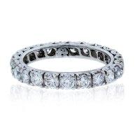 18k White Gold 1.8ctw Diamond Eternity Band Ring