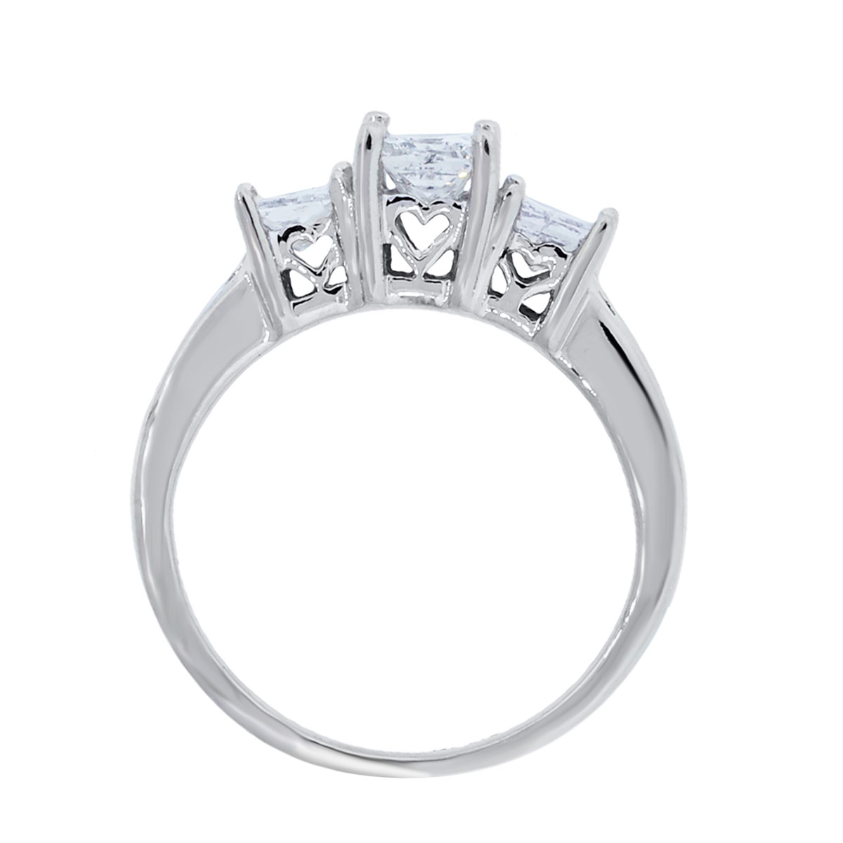 14k White Gold 1.10ctw Princess Cut Diamond Engagement Ring