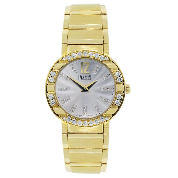 Piaget P10141 Polo 18k Gold Diamond Bezel Ladies Watch