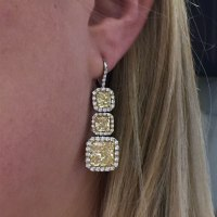 Platinum & 18k Yellow Gold 14.96ct Fancy Yellow Diamond ...