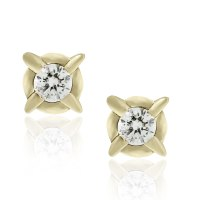 14k Yellow Gold Vintage 0.25ctw Diamond Stud Earrings