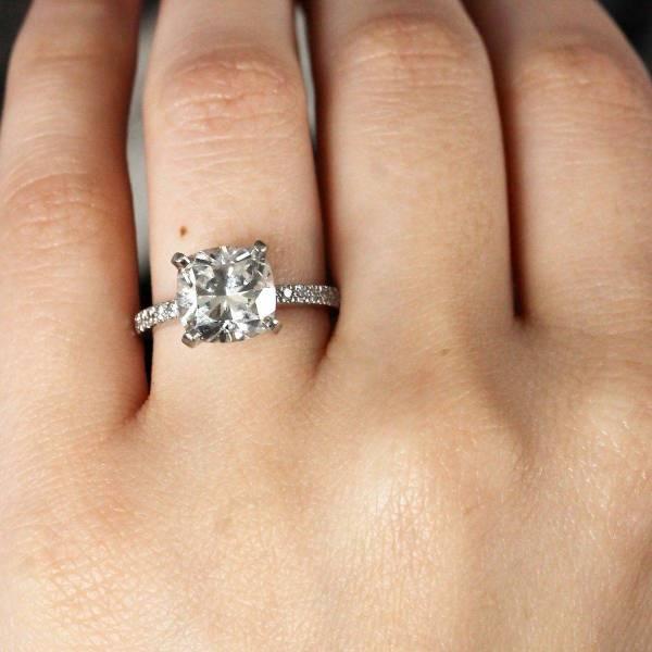 Tiffany & . Rings Novo Square Cushion Diamond Engagement
