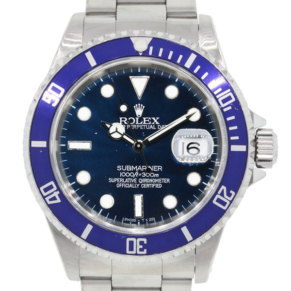 Rolex 16610 Submariner Blue Bezel Dial Watch