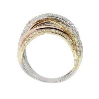 Effy 14k Tri Gold 2.25ctw Diamond Crossover Ring