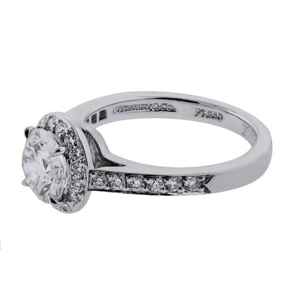 Tiffany & . Platinum 0.94ct Diamond Engagement Ring
