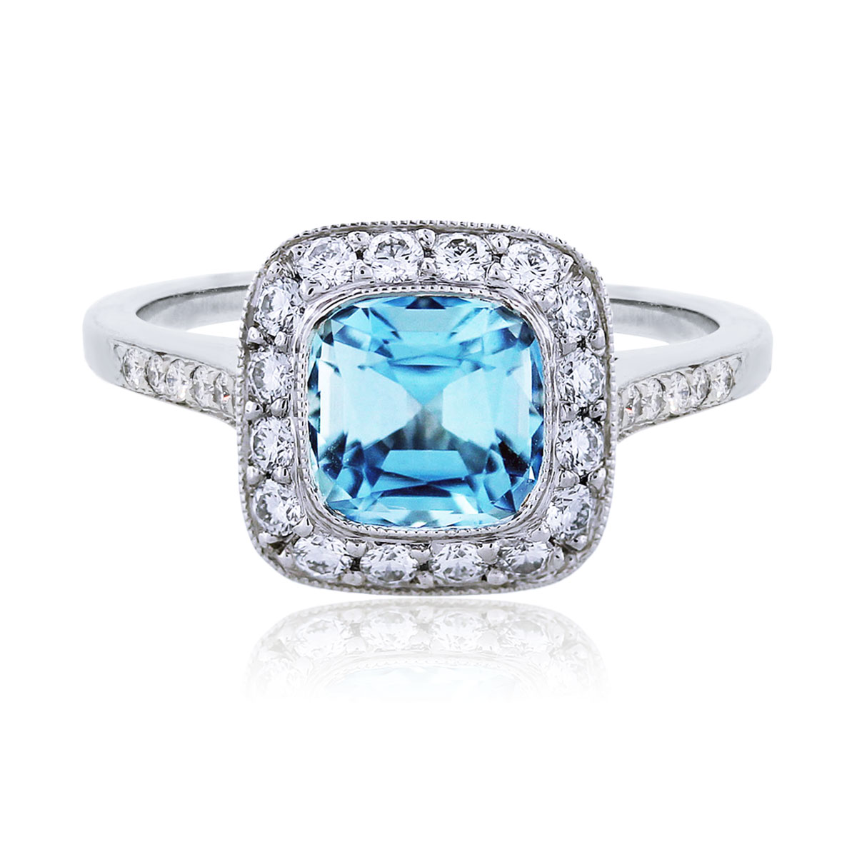 Tiffany Amp Co Legacy Platinum Aquamarine And Diamond Ring