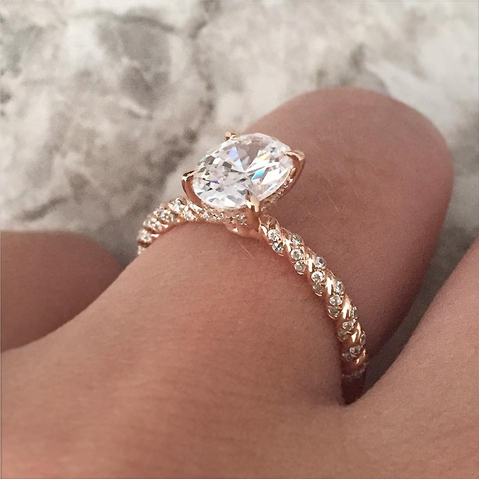 Rose Gold Engagement Rings For The Holidays Raymond Lee
