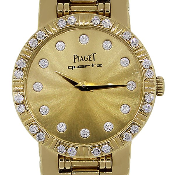 Piaget Dancer 80564 18k Yellow Gold Diamond Dial Ladies Watch