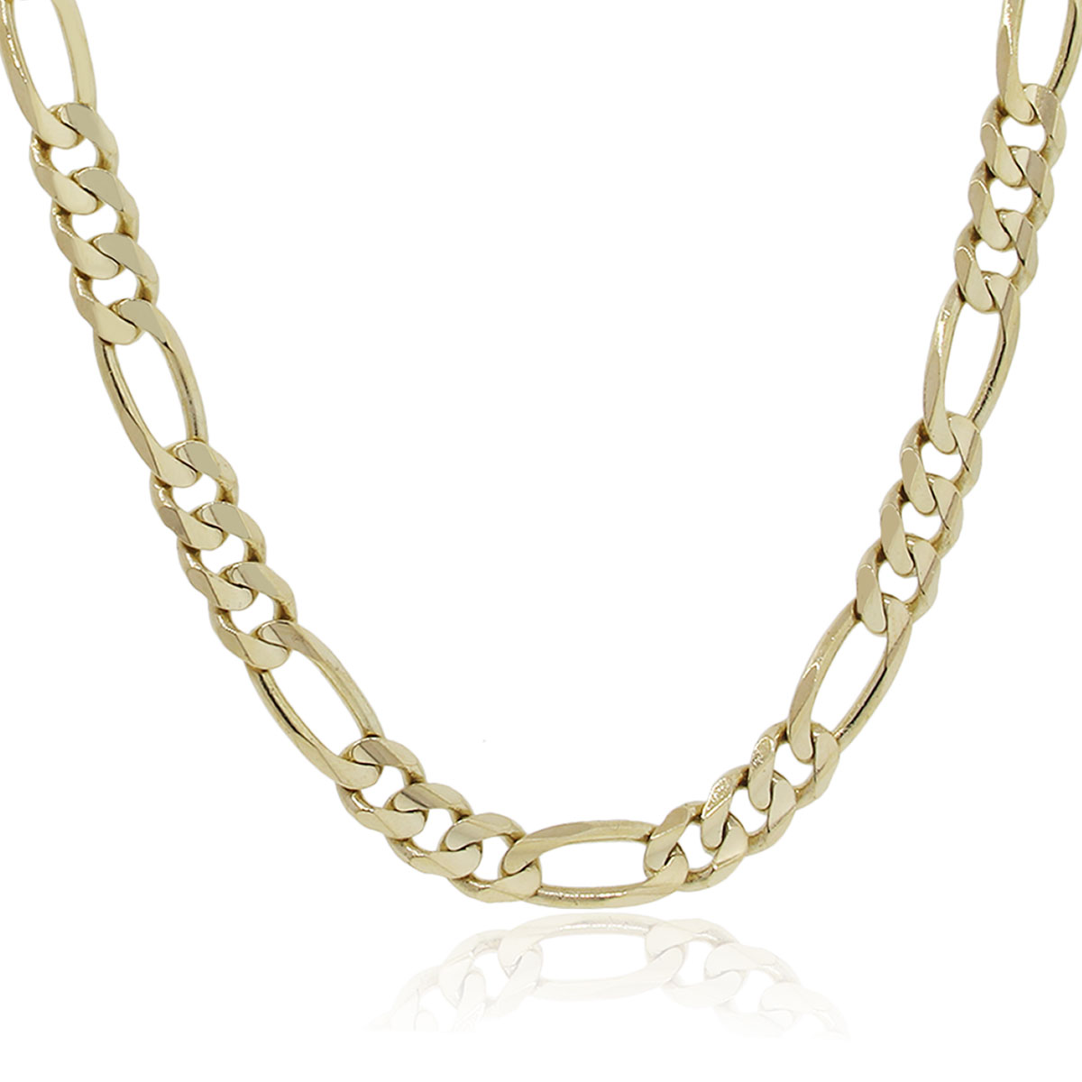 14k Yellow Gold Figaro Link 20 Chain Necklace