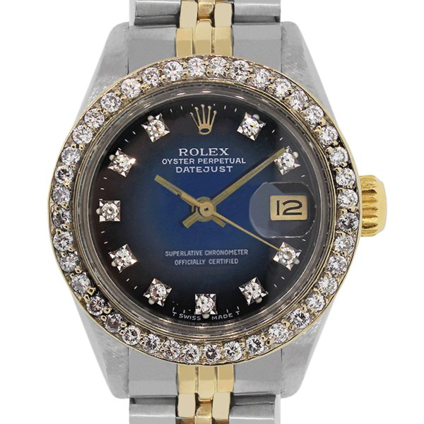 Rolex 6917 Datejust Two Tone Diamond Dial And Bezel Ladies