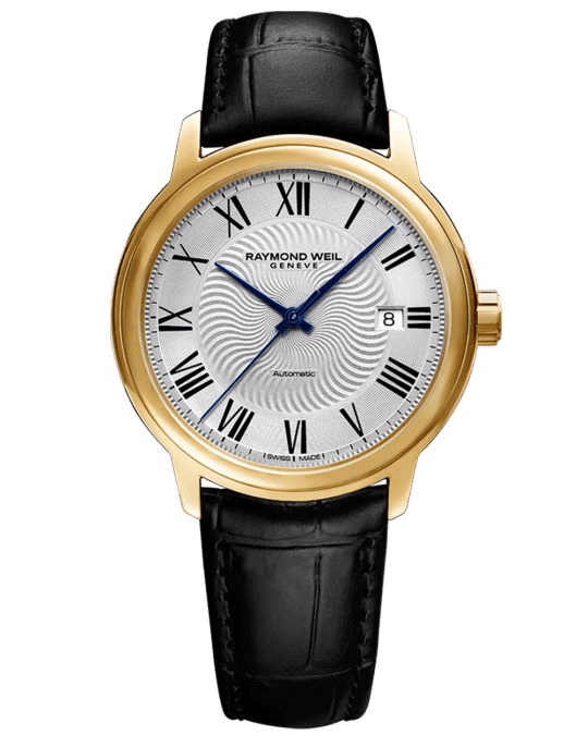Maestro Men's Automatic Leather Watch