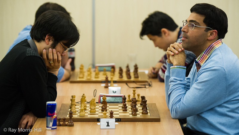Board 1, Final Round Hikaru Nakamura vs Vishy Anand