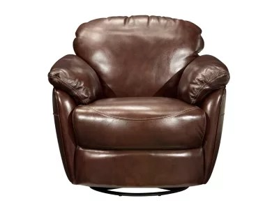 buffalo leather chair beach position aldo swivel glider accent - cabernet | raymour & flanigan