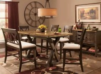Wexford 6-pc. Counter-Height Dining Set w/ Bench - Oak ...