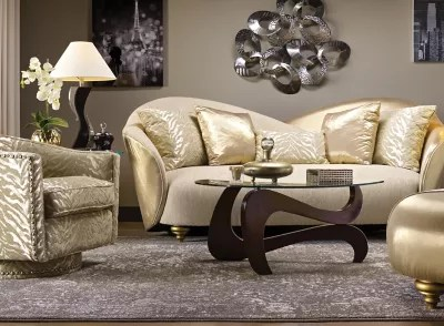 hollywood regency living room decorating ideas lake house furniture in the spotlight raymour and flanigan mirrors metallics on walls accessories are a mainstay but restrict glitz to either polished gold or silver rather than rustic tones
