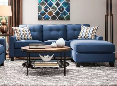 sofas living room blue with brown couches furniture raymour flanigan