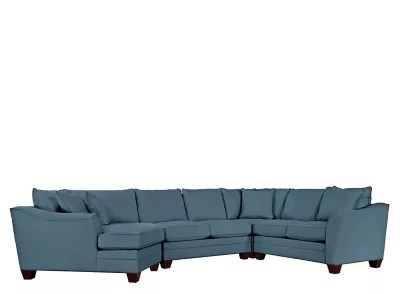 sleeper sofas buffalo ny room and board jasper sofa slipcover foresthill 4-pc. microfiber sectional w/ twin ...
