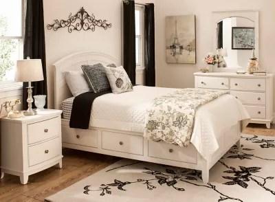 kylie youth 4 pc twin platform bedroom set w 1 sd storage bed
