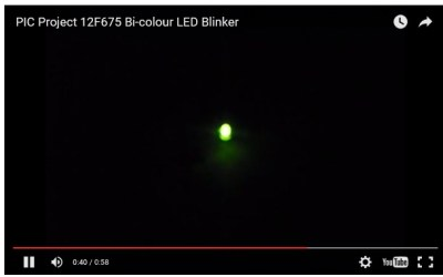 Bi-colour LED Blinker – 12F675