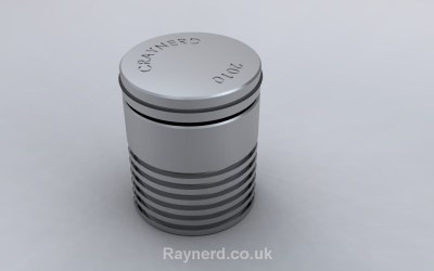 Aluminium Cylinder Puzzle by William Strijbos