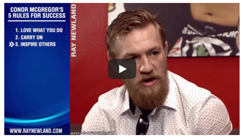 Conor McGregor Top Tips For Success in 10 Minutes