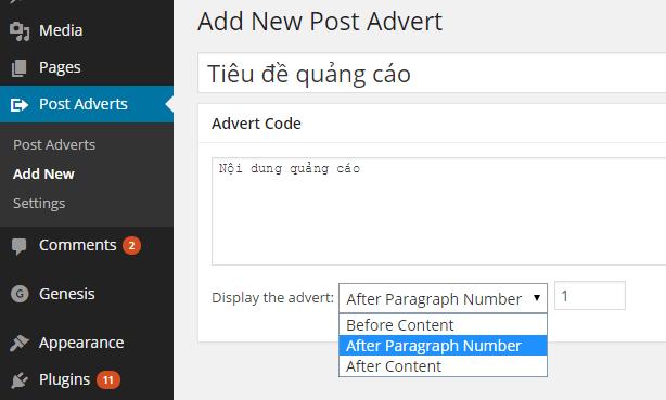 plugin insert post ads