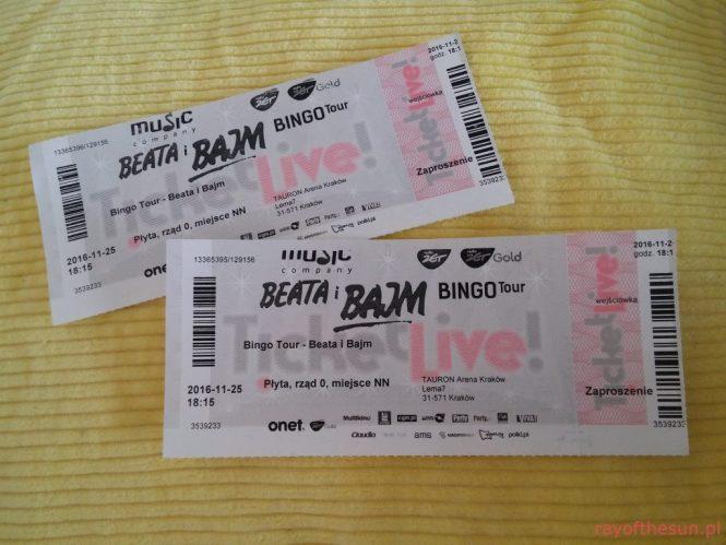 Zdjęcie biletów Beata i Bajm Bingo Tour, Tauron arena
