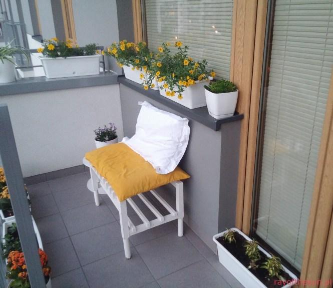 Balkon w kolorach słońca