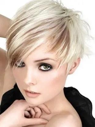 rayos en el cabello corto