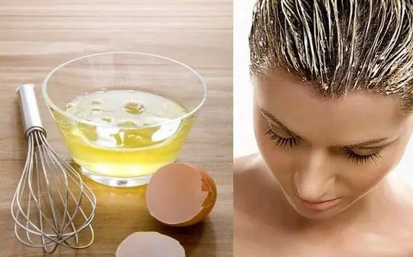 mascarilla de huevo para el pelo