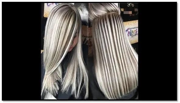 como dividir el cabello para hacer mechas