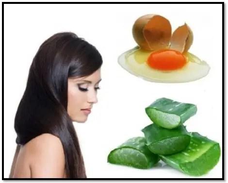 mascarilla de sábila y huevo para el cabello