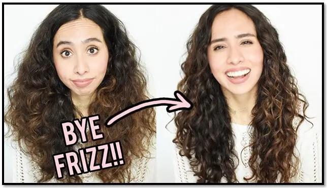 como quitar el frizz del cabello ondulado