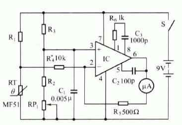 Electronic Thermometer Schematic Diagram