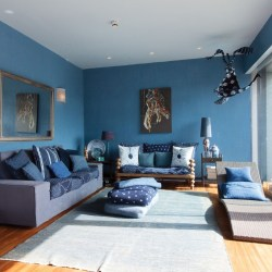 Blue Schemes Living Room Interior Ideas with Paint Ideas for Living Room Decor