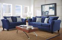 Modern Blue Living Room Furniture With Oak Wood Coffee ...