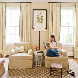 modern cream drapes for living room window treatments