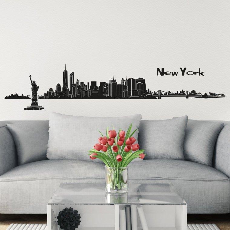 new york city vinyl sticker living room decorative wall decals