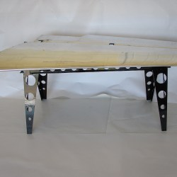 airplane wing coffee table from reclaimed airplane