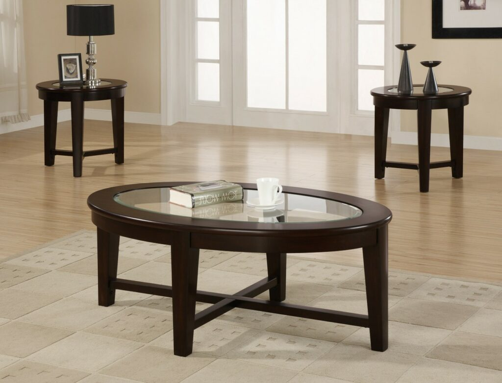 coffee table with chairs oxo taupe walnut high chair cheap end tables and sets furniture