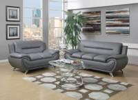 Grey Modern Leather Living Room Sets | Raysa House