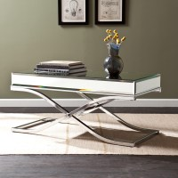Mirrored Coffee Table Set Furniture