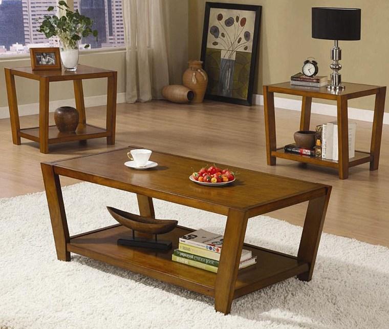 modern wooden coffee table sets walmart