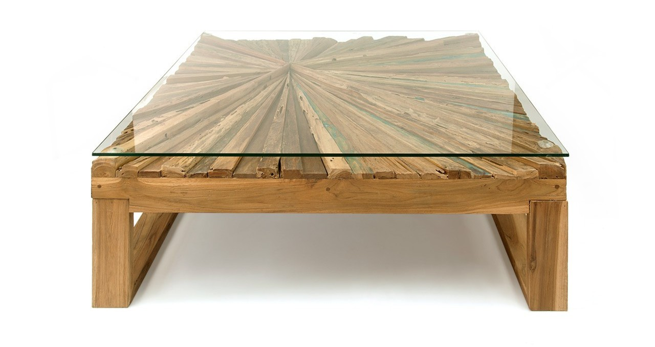 Rustic Coffee Table from Solid Reclaimed Wood