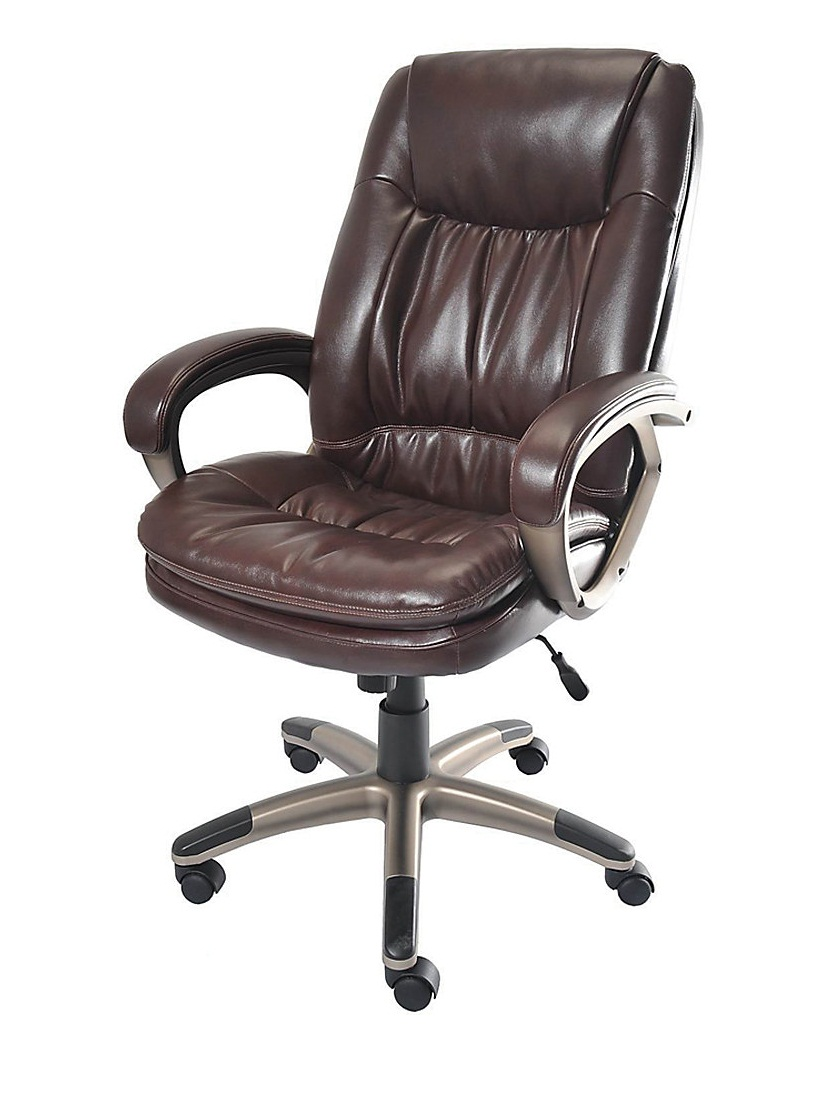 Realspace Fosner High Back Bonded Leather Chair Realspace Fosner High Back Bonded Leather Chair
