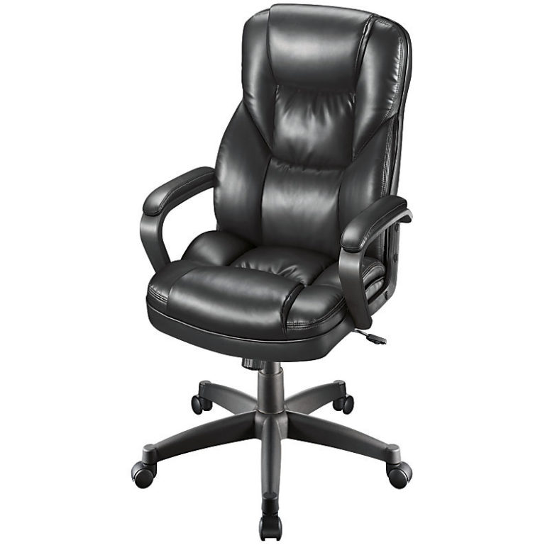 realspace fosner high back bonded leather chair office mat 45 x 60 cheap black swivel