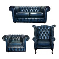 Blue Leather Club Chair Furniture