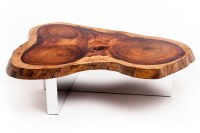 Wood Slab Coffee Table For Sale Raw Wood Diy Metal Legs ...