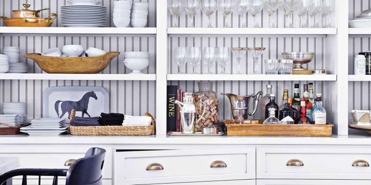 White-Kitchen-Storage-Cabinets-kitchen decor theme ideas