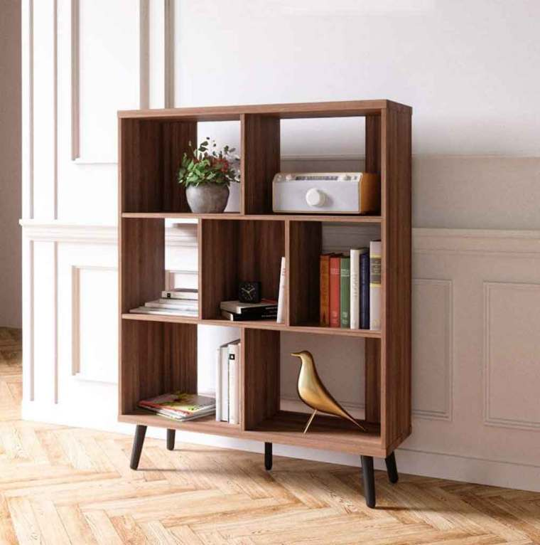 5 Inspiring Mid Century Modern Bookshelf to Bring Out Aesthetic Look| Raysa House
